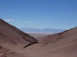 Blick zurück uaf den Salar de Arizaro Tolar Grande--Salar de Pocitos